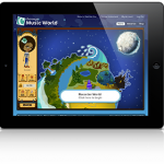 Charanga Music World on an iPad / tablet