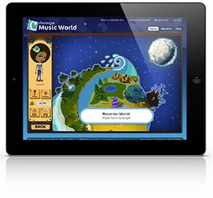 Charanga Music World on an iPad / tablet