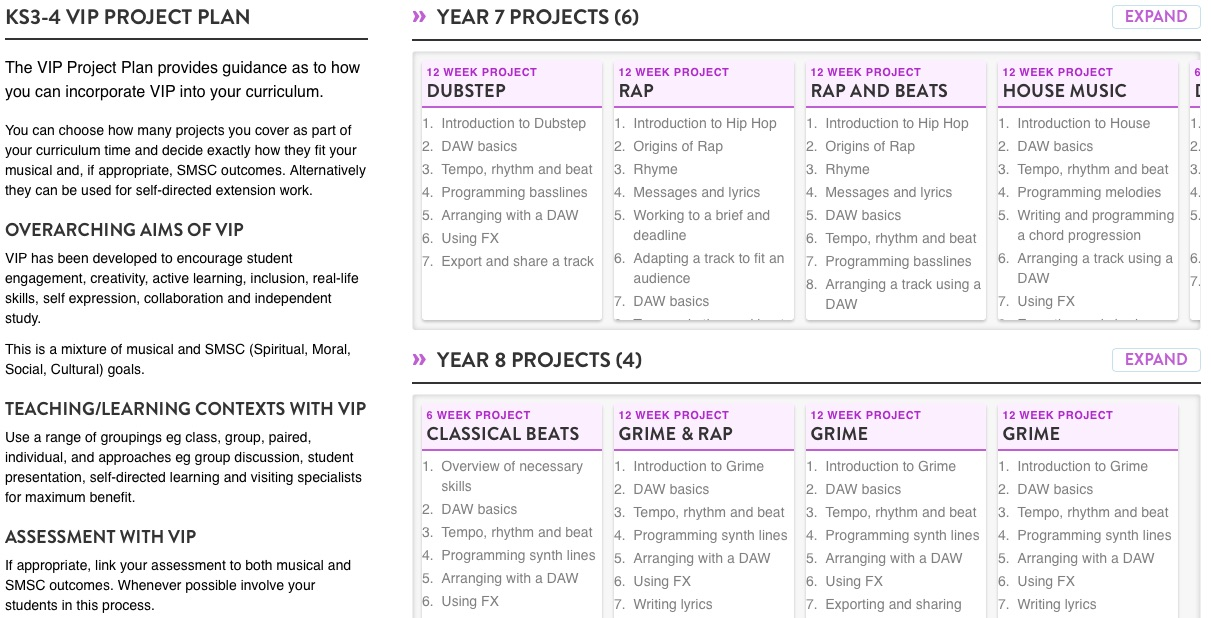 VIP Project Plans