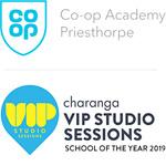 Co-op Academy Priesthorpe and VIP logos