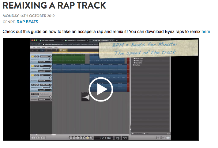 Remixing a rap trap resource in VIP